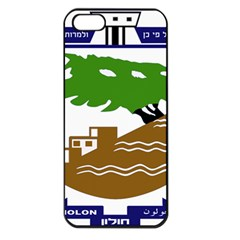 Coat Of Arms Of Holon  Apple Iphone 5 Seamless Case (black) by abbeyz71