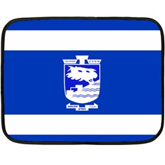 Flag Of Holon  Double Sided Fleece Blanket (mini)  by abbeyz71