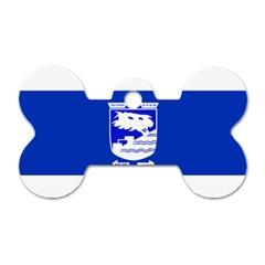 Flag Of Holon  Dog Tag Bone (two Sides) by abbeyz71