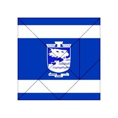Flag Of Holon  Acrylic Tangram Puzzle (4  X 4 ) by abbeyz71