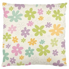 Beautiful Spring Flowers Background Large Cushion Case (one Side) by TastefulDesigns