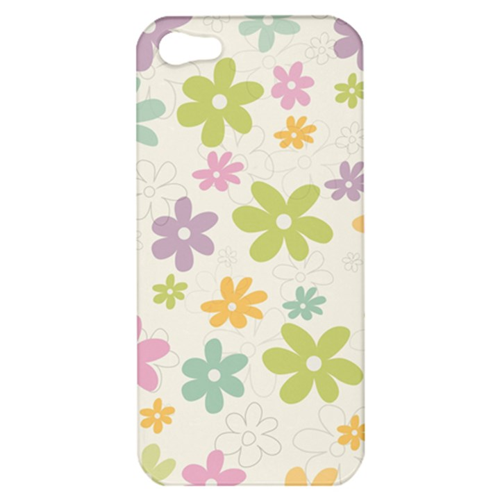 Beautiful spring flowers background Apple iPhone 5 Hardshell Case