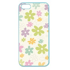 Beautiful Spring Flowers Background Apple Seamless Iphone 5 Case (color) by TastefulDesigns