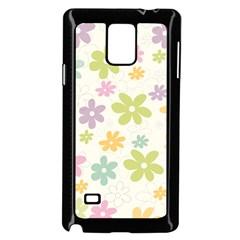 Beautiful Spring Flowers Background Samsung Galaxy Note 4 Case (black) by TastefulDesigns