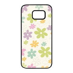 Beautiful Spring Flowers Background Samsung Galaxy S7 Edge Black Seamless Case by TastefulDesigns