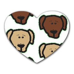 Lab 3 Colors Cartoon Head Heart Mousepads by TailWags