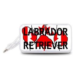 Lab Name Canadian Flag Paw Portable Speaker (White)