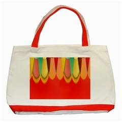Colors On Red Classic Tote Bag (red) by linceazul