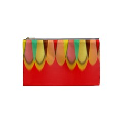 Colors On Red Cosmetic Bag (small)  by linceazul