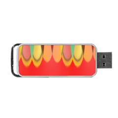 Colors On Red Portable Usb Flash (one Side) by linceazul
