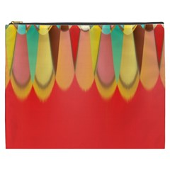 Colors On Red Cosmetic Bag (xxxl)  by linceazul