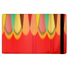 Colors On Red Apple Ipad 3/4 Flip Case by linceazul