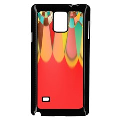 Colors On Red Samsung Galaxy Note 4 Case (black) by linceazul