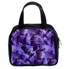 Purple Paint Strokes Classic Handbags (2 Sides) by KirstenStar
