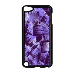 Purple Paint Strokes Apple Ipod Touch 5 Case (black) by KirstenStar
