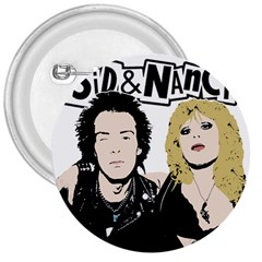 Sid And Nancy 3  Buttons by Valentinaart