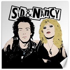 Sid And Nancy Canvas 12  X 12   by Valentinaart