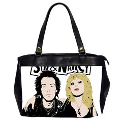 Sid And Nancy Office Handbags (2 Sides)  by Valentinaart