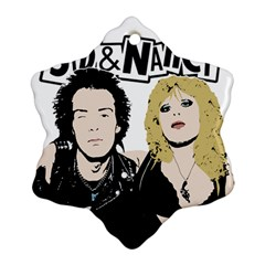 Sid And Nancy Snowflake Ornament (two Sides) by Valentinaart