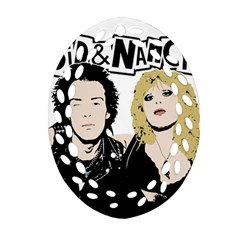 Sid And Nancy Oval Filigree Ornament (two Sides) by Valentinaart