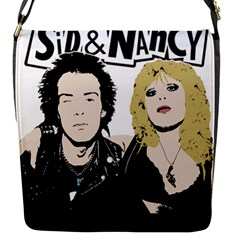 Sid And Nancy Flap Messenger Bag (s) by Valentinaart