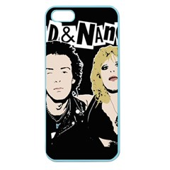 Sid And Nancy Apple Seamless Iphone 5 Case (color) by Valentinaart