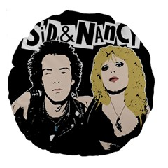 Sid And Nancy Large 18  Premium Round Cushions by Valentinaart