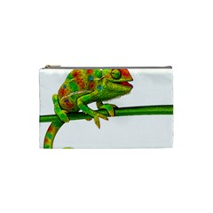 Chameleons Cosmetic Bag (small)  by Valentinaart