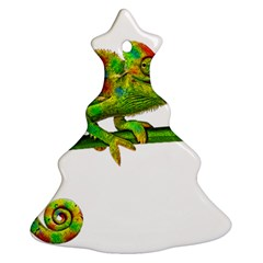 Chameleons Christmas Tree Ornament (two Sides) by Valentinaart