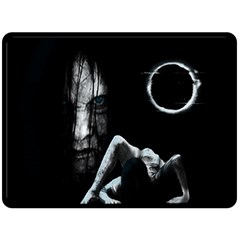 The Ring Double Sided Fleece Blanket (large)  by Valentinaart