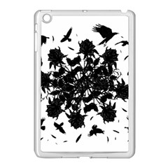 Black Roses And Ravens  Apple Ipad Mini Case (white) by Valentinaart