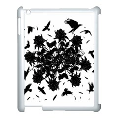 Black Roses And Ravens  Apple Ipad 3/4 Case (white) by Valentinaart