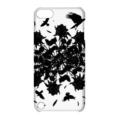 Black Roses And Ravens  Apple Ipod Touch 5 Hardshell Case With Stand by Valentinaart