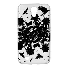 Black Roses And Ravens  Samsung Galaxy Mega 6 3  I9200 Hardshell Case by Valentinaart