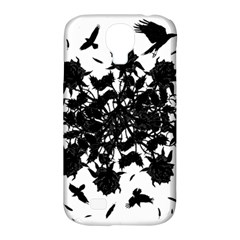 Black Roses And Ravens  Samsung Galaxy S4 Classic Hardshell Case (pc+silicone) by Valentinaart