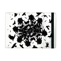 Black Roses And Ravens  Ipad Mini 2 Flip Cases by Valentinaart
