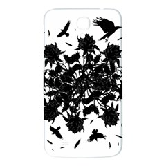 Black Roses And Ravens  Samsung Galaxy Mega I9200 Hardshell Back Case by Valentinaart