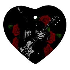 Slash Heart Ornament (two Sides) by Valentinaart