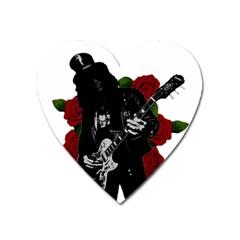 Slash Heart Magnet by Valentinaart
