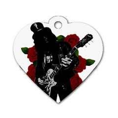 Slash Dog Tag Heart (one Side) by Valentinaart