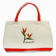 Bird Of Paradise Classic Tote Bag (red) by Valentinaart