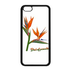 Bird Of Paradise Apple Iphone 5c Seamless Case (black) by Valentinaart