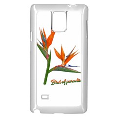 Bird Of Paradise Samsung Galaxy Note 4 Case (white) by Valentinaart