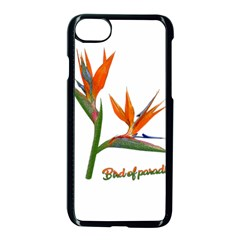 Bird Of Paradise Apple Iphone 7 Seamless Case (black) by Valentinaart