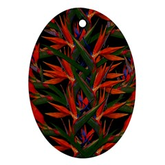 Bird Of Paradise Oval Ornament (two Sides) by Valentinaart