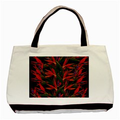 Bird Of Paradise Basic Tote Bag (two Sides) by Valentinaart