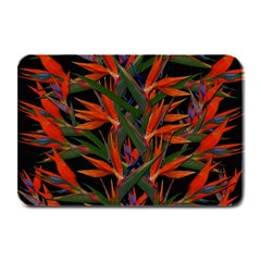 Bird Of Paradise Plate Mats by Valentinaart