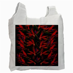 Bird Of Paradise Recycle Bag (one Side) by Valentinaart