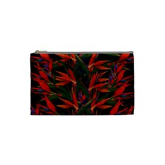 Bird Of Paradise Cosmetic Bag (small)  by Valentinaart