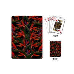 Bird Of Paradise Playing Cards (mini)  by Valentinaart